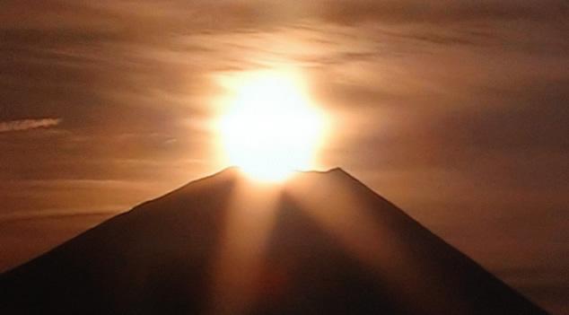 2012年初日の出:ダイヤモンド富士