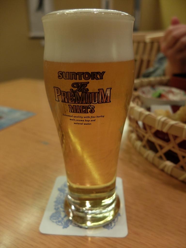 私は追加でビール