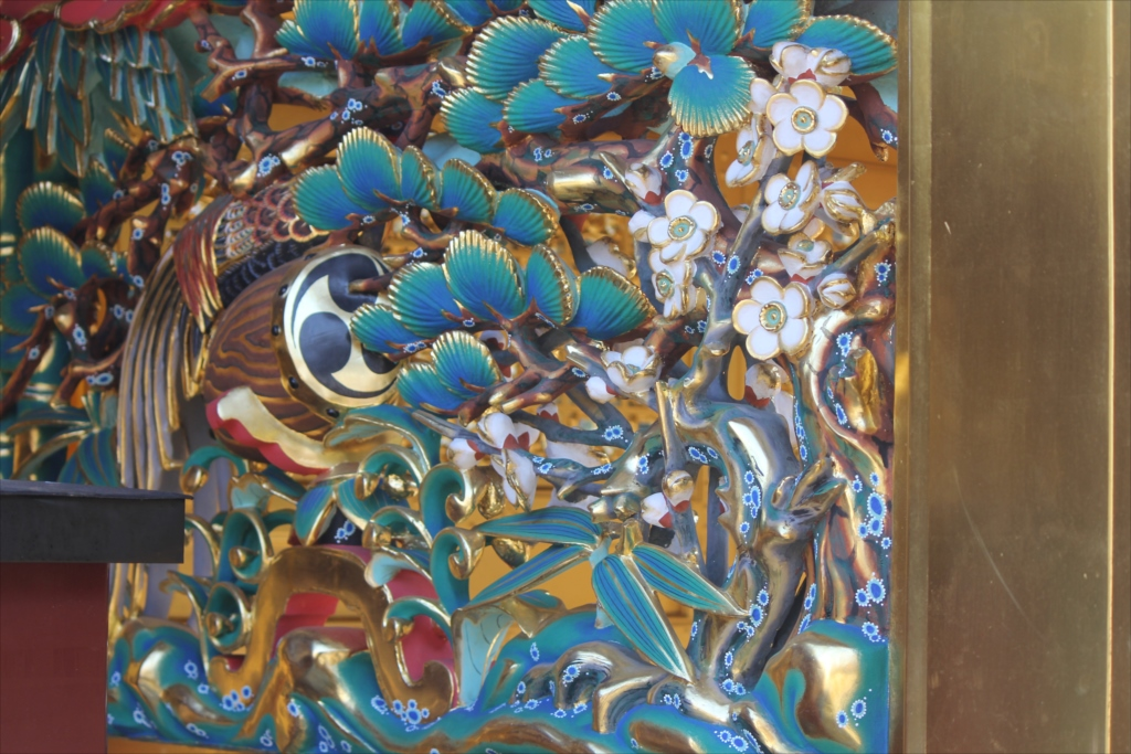 松竹梅と錦鶏鳥の透彫_4