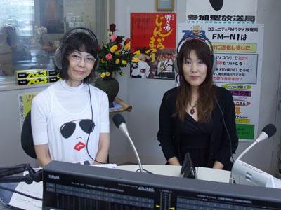 えふえむ・エヌ・ワンのスタジオで谷口アナと!