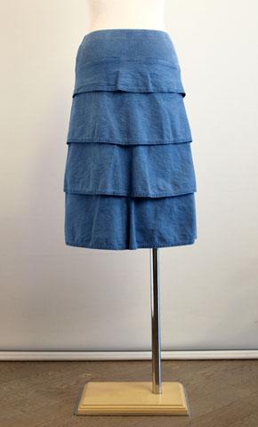 イリゼのムラモールスキンストレッチの後ろティアードのスカート!