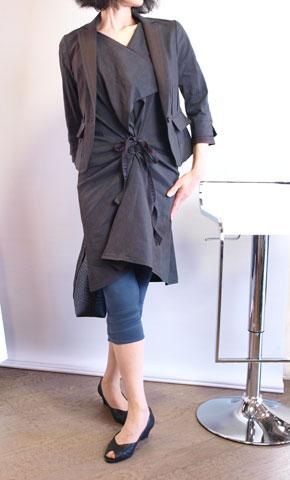 irise・イリゼの麻レーヨンの7分袖テーラードジャケット