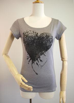 mur,e coeur・ミュールクールのハートイラストTシャツ