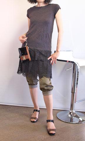 koyuki・コユキの裾レースのワンピース