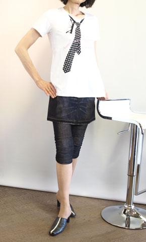 スーパーボイスの夏素材の騙し絵オーバースカート