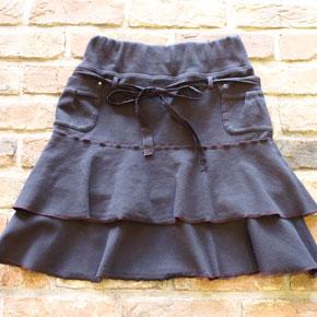 irise・イリゼのカットソー素材のティアードスカート