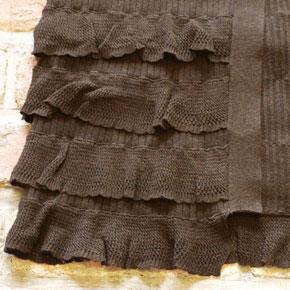 irise・イリゼの裾4段フリルのロングカーディガン