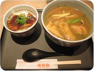 セットA(カレーきしめん+ミニ味噌カツ丼)