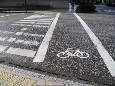 自転車横断道路