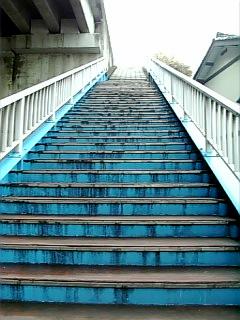 長良川沿い徒歩通勤_鏡島大橋登る_01