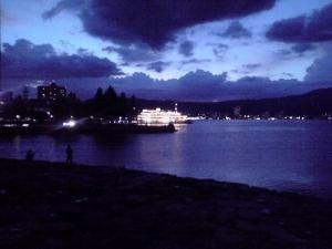 琵琶湖(夕闇に浮かぶミシガン号ナイトクルーズ)