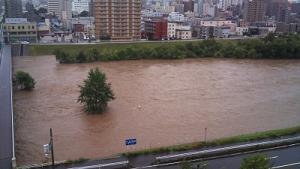 豊平川氾濫???1