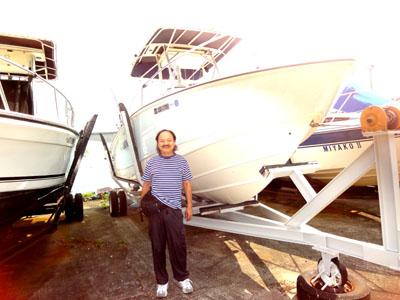 伊豆大島まで船でお散歩