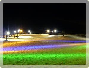 夜のスキー場