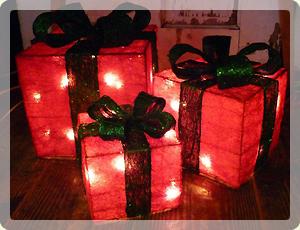 クリスマス・プレゼント型ライト