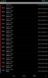Nexus 7 充電開始時のログ