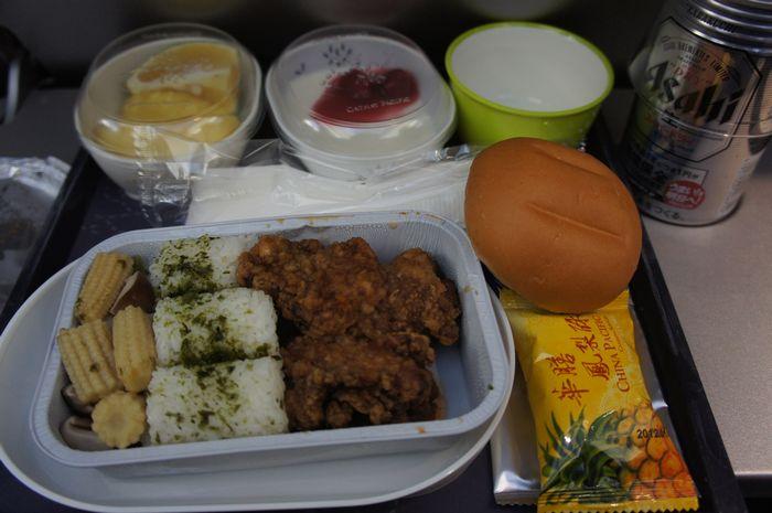 台湾帰りの機内食