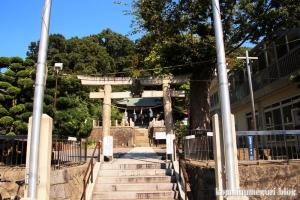 諏訪神社(横浜市港北区蓑輪町)1
