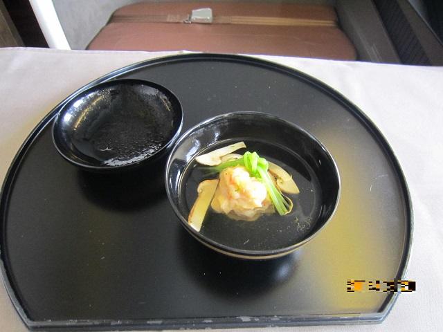 海老真蒸と松茸の椀