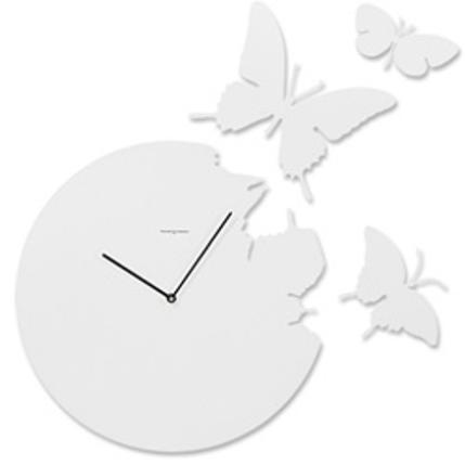 Diamantini Domeniconi(ディアマンティーニ・ドメニコーニ)「BUTTERFLY CLOCK」ホワイト Susanne Philippson(スザンネ・フィリプソン)