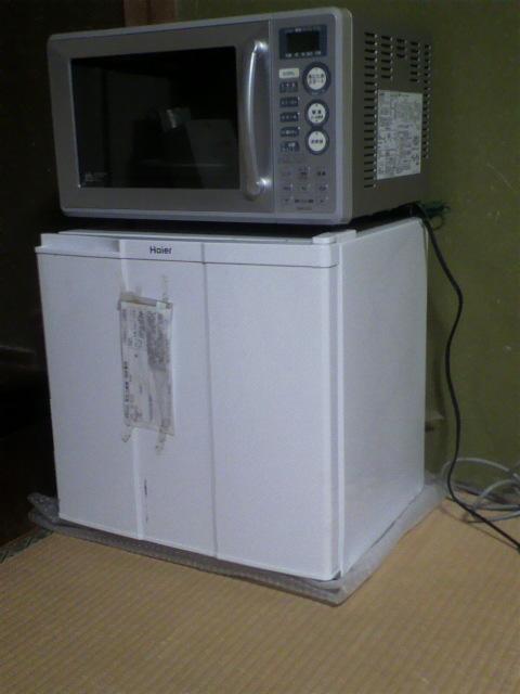 電子レンジ&小型冷蔵庫