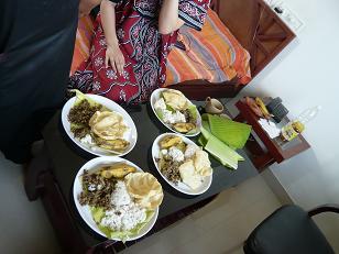ジグマでのアーユルヴェーダ食