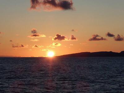 礼文に沈む夕日