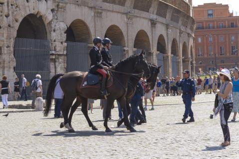 騎馬警察?