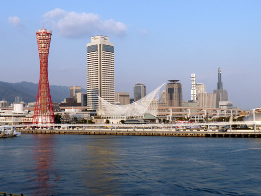 神戸メリケンパーク 神戸 ポートタワー 神戸海洋博物館