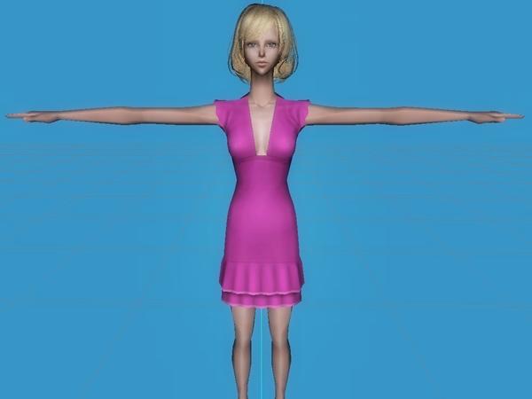 小十郎と女の子(Sims2)