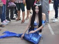 釣魚島(尖閣諸島)海域の人魚が中国の街中に現れたらしい