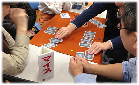 ゲームマーケット2012秋-マイス遊戯中