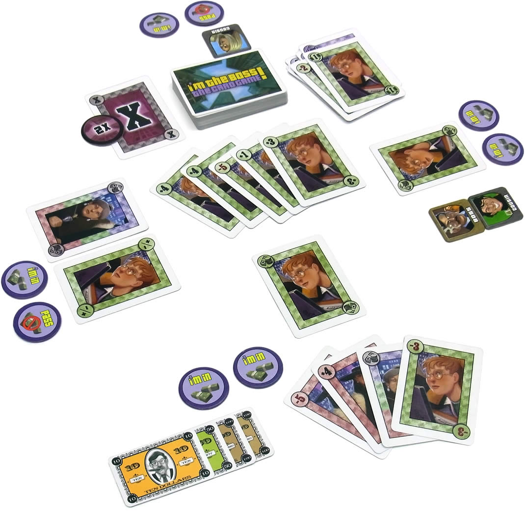 アイム・ザ・ボス!カードゲーム:展示用写真