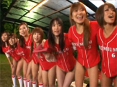 廃部寸前で予算が無い女子野球チームが存亡をかけてノーパンでプレイボール!