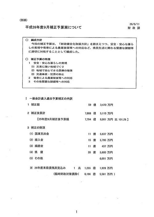 栃木県議会 9月<通常会議>迫る!②