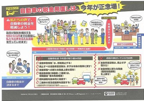自動車総連 税制改正等要請を受付!③