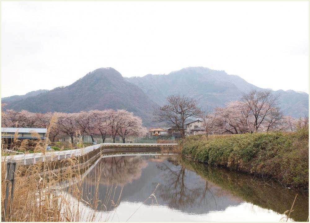 松代城の前の道