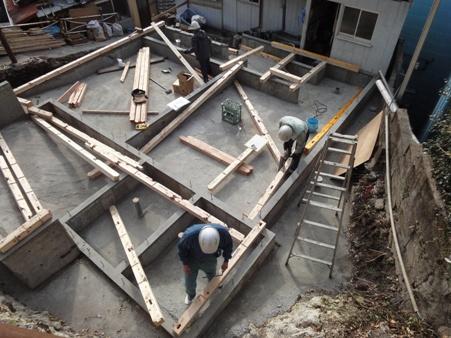 K屋邸増築工事~建て方