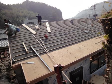 K邸増築工事~屋根工事着手