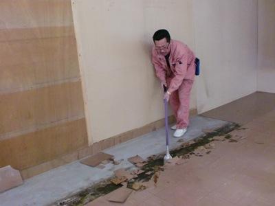 床 塩ビタイル補修