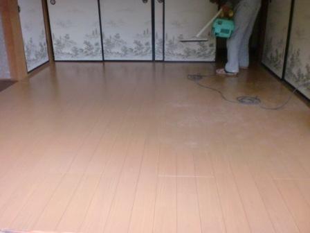 T邸リフォーム~床フロア板張り 完了