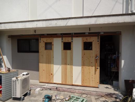Y邸 車庫ドア作製~完了