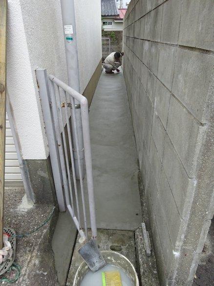 某駐車場内のフェンス補修