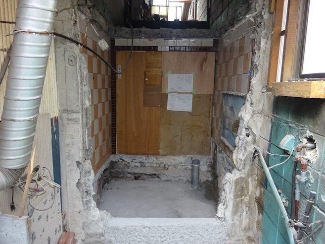 浴室リフォーム 撤去工事完了