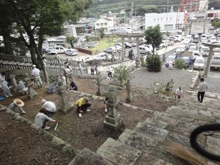 八幡宮神社 大祭準備