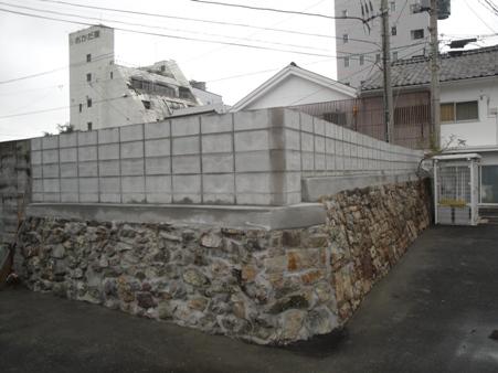 境界塀改修~CB積み ほぼ完了