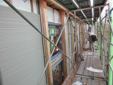 某施設新築工事~外装・内部木下地