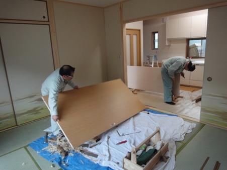 K邸増築工事~建具・タイル貼り