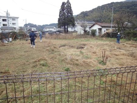某公舎跡地 草刈り