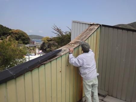 屋根笠木の修繕